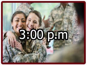 Horario en el campamento militar 3:00 p.m