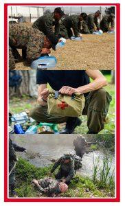 Primeros auxilios en campamentos de orientación militar