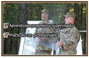 Beneficios de aprender topografía y orientación en un campamento de orientación militar