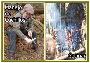 Manipular cuchillos y cocinar