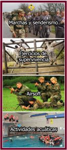 Actividades en los campamentos para jóvenes cadetes