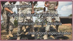 Características de los campamentos de orientación militar