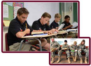 Actividades teóricas en los campamentos para jóvenes cadetes