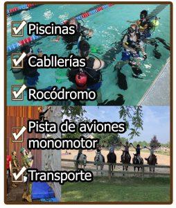 Areas especiales de las instalaciones de campamentos de orientacion militar