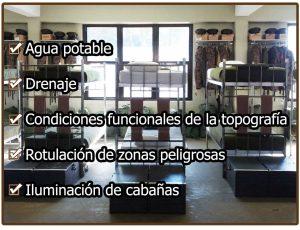 Caracteristicas de las instalaciones de un campamento de orientacion militar