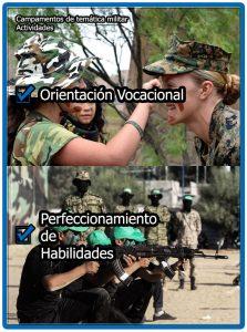 Finalidad de las actividades en los campamentos militares